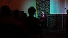 Performing at Toronto Monologue Slam